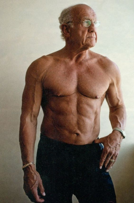ripped old man